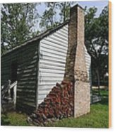 Oakley Plantation Slave Quarters Wood Print by Bourbon  Street