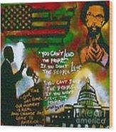 Obama Vs. Cornel Wood Print by Tony B Conscious