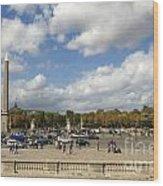 Obelisque Place De La Concorde. Paris. France Wood Print by Bernard Jaubert