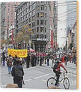 Occupy Sf . 7d9733 Wood Print by Wingsdomain Art and Photography