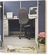 Office Cubicle Wood Print by Andersen Ross
