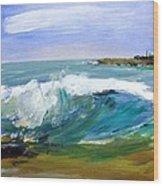 Ogunquit Beach Wave Wood Print by Scott Nelson