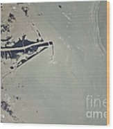 Oil Slick, Mississippi River Delta Wood Print by NASA/Science Source