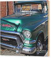 Old American Gmc Truck . 7d10665 Wood Print by Wingsdomain Art and Photography