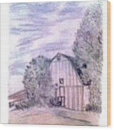 Old Barn Wood Print by De Beall