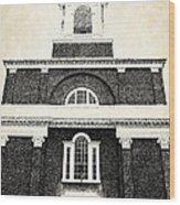 Old Church In Boston Wood Print by Elena Elisseeva