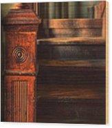Old Staircase Wood Print by Jill Battaglia