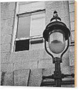 Old Sugg Gas Street Lights Converted To Run On Electric Lighting Aberdeen Scotland Uk Wood Print by Joe Fox