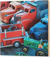 Old Tin Toys Wood Print by Steve McKinzie