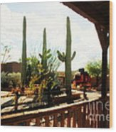 Old Tuscon Movie Studio Theme Park Wood Print by Susanne Van Hulst