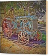 Oliver Tractor 2 Wood Print by Nick Kloepping