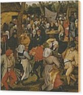 Open Air Wedding Dance Wood Print by Pieter the Younger Brueghel