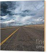Open Highway Wood Print by Arjuna Kodisinghe