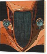 Orange Jalopy Wood Print by Samuel Sheats