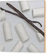 Organic Marshmallows With Vanilla Wood Print by Joana Kruse