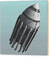 Orion-drive Spacecraft With Solid-fuel Wood Print by Rhys Taylor
