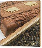Ornate Box With Darjeeling Tea Wood Print by Fabrizio Troiani