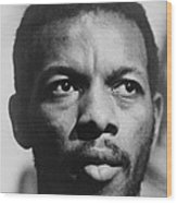 Ornette Coleman B. 1930 African Wood Print by Everett