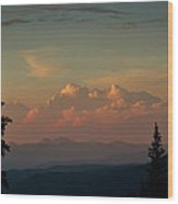 Painted Sky Wood Print by Larry Fry