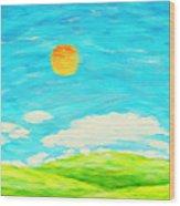 Painting Of Nature In Spring And Summer Wood Print by Setsiri Silapasuwanchai