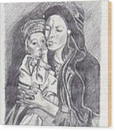 Pakistani Mother And Child Wood Print by John Keaton