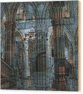 Palace Hall Wood Print by Angel Jesus De la Fuente