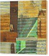 Panel With Peas Wood Print by Joe Jake Pratt