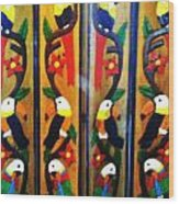 Parrots And Tucans  Wood Print by Unique Consignment