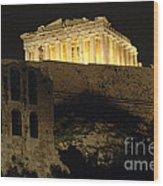 Parthenon Athens Wood Print by Bob Christopher