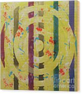 Party- Bullseye 1 Wood Print by Mordecai Colodner