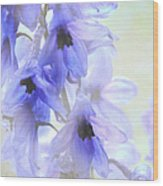 Passion For Flowers. Blue Dreams Wood Print by Jenny Rainbow