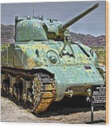 Patton M4 Sherman Wood Print by Jason Abando