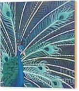 Peacock Wood Print by Estephy Sabin Figueroa