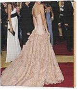 Penelope Cruz Wearing Atelier Versace Wood Print by Everett