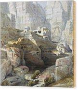 Petra March 10th 1839 Wood Print by Munir Alawi