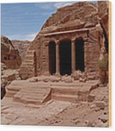 Petra's Garden Temple Wood Print by Dan Wiklund