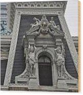 Philadelphia City Hall Window Wood Print by Bill Cannon
