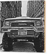 Pick Up Truck On A New York Street Wood Print by John Farnan