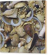 Pickled Mushrooms Wood Print by Michal Boubin