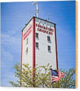 Picture Of Frankfort Grainery In Frankfort Illinois Wood Print by Paul Velgos