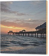 Pier 60 Clearwater Beach Florida Wood Print by Bill Cannon