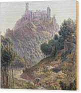 Pina Cintra Summer Home Of The King Of Portugal Wood Print by George Leonard Lewis