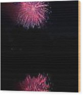 Pink Fireworks Wood Print by James BO  Insogna