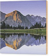 Pioneer Basin Morning Panorama Wood Print by Buck Forester