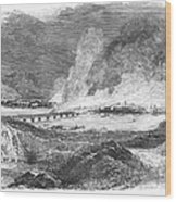 Pittsburgh: Fire, 1845 Wood Print by Granger