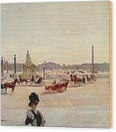 Place De La Concorde - Paris  Wood Print by Georges Fraipont