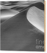 Platinum Dunes Wood Print by Bob Christopher