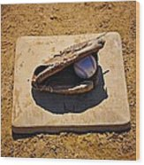 Play Ball Wood Print by Bill Cannon