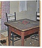 Playing Checkers Wood Print by Susan Leggett