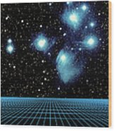 Pleiades In Taurus Wood Print by Science Source